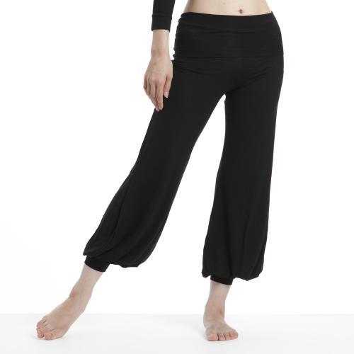ヨギー・サンクチュアリ bubble pants ブラック -ウェア