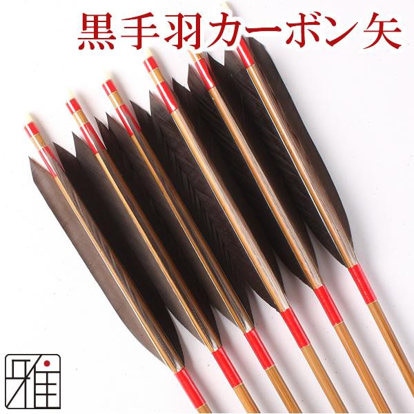 弓道 弓具 ミズノカーボン矢 黒手羽 SST-7520BCシャフト|6本組【YA-126】