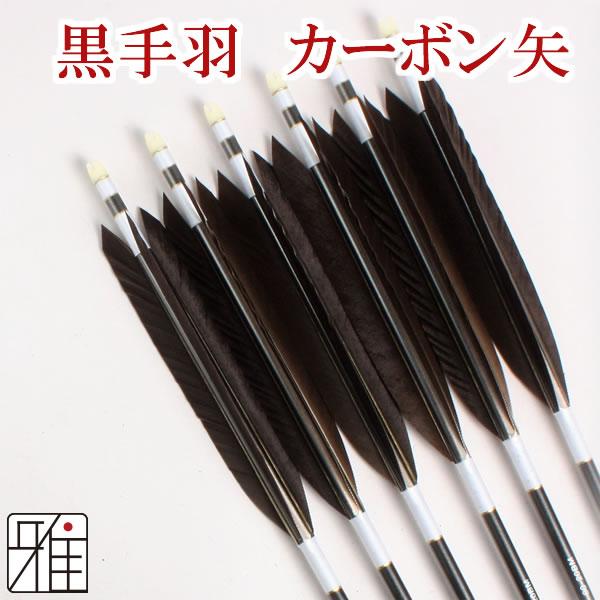 弓道 弓具 ミズノカーボン矢 黒手羽 SST-8020BMシャフト|6本組【YA196】