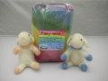 草木染め12色羊毛50g 〜フェルトニードル遊び用のメルヘンウール羊毛セットです。