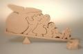 おはなし組木・おおきなかぶ 〜「おおきなかぶ」の絵本から飛び出した組木です〜