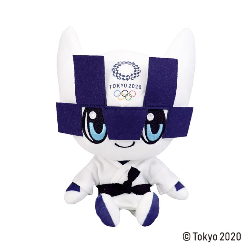 東京2020 オリンピックマスコット  ぬいぐるみ  M / 柔道 白