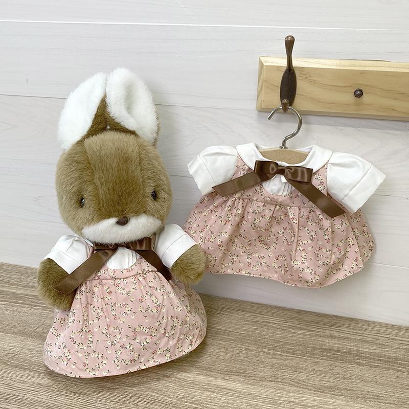 ラッキー・マック・サンディ用 ドレス 女の子 M ハート柄 ピンク