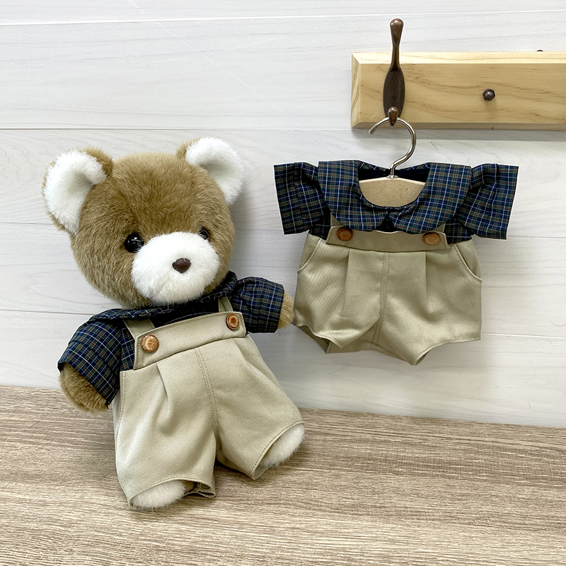ラッキー・マック・サンディ用 ドレス 男の子 M チェックシャツ グリーン