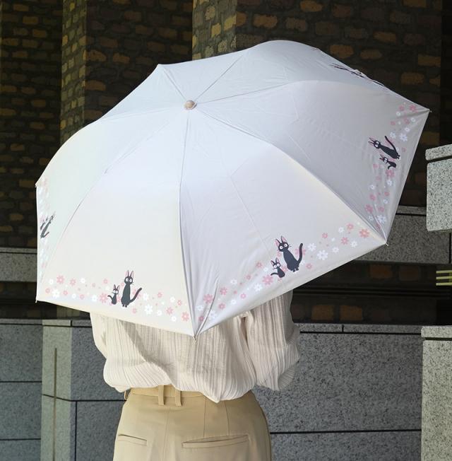 折傘 ジジ お花がいっぱい