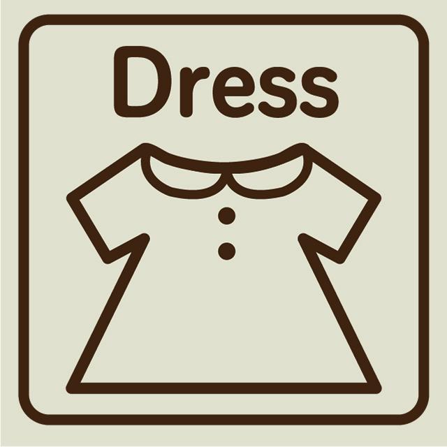 うさぎのラッキー ドレス LL用 (販売価格未定)