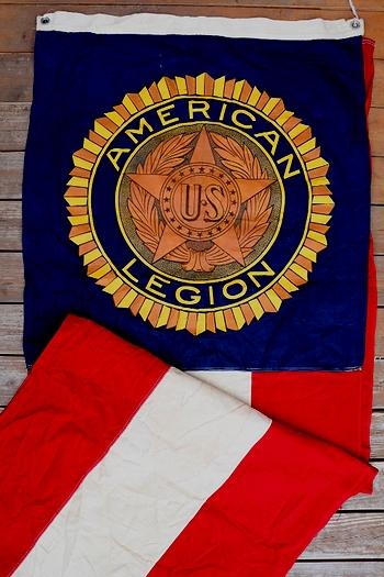 ビンテージリーガンフラッグ USミリタリー アメリカ直輸入 AMERICAN LEGION