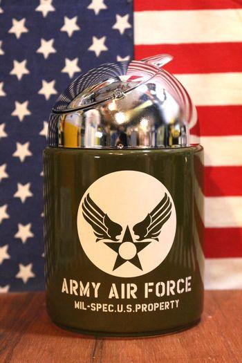 エアフォース灰皿 ARMYAIRFORCE ミリタリー灰皿 レトロドームアシュトレイ アメリカ雑貨屋 サンブリッヂ ミリタリー通販