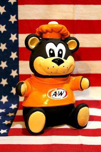 A&Wベアー A&Wハンバーガーマスコット 貯金箱 アメリカ雑貨屋 サンブリッヂ