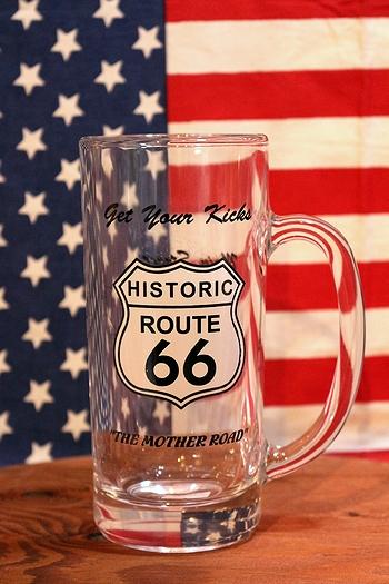 ルート66ビアグラス ROUTE66グラス アメリカン雑貨 アメリカ雑貨屋 サンブリッヂ 通販