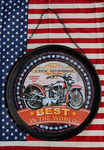 バイク看板 ガレージ看板 モーターサイクル アメ車 アメリカ雑貨屋 サンブリッヂ 看板通販