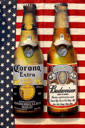 コロナビール看板 コロナビール栓抜き バゴワイザー看板 バドワイザー栓抜き アメリカ雑貨通販 サンブリッヂ