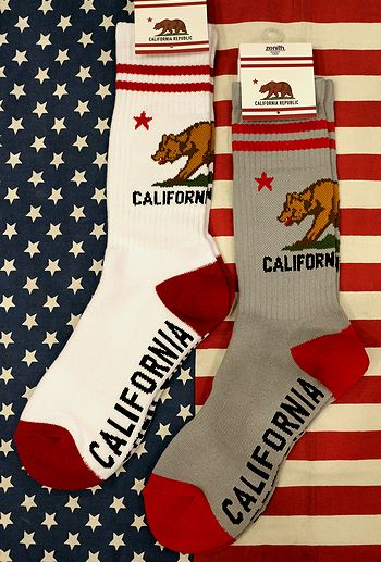 カリフォルニア 靴下 ソックス スケーターソックス アメカジ アメリカン靴下 アメリカ雑貨屋 サンブリッヂ アメフト雑貨通販