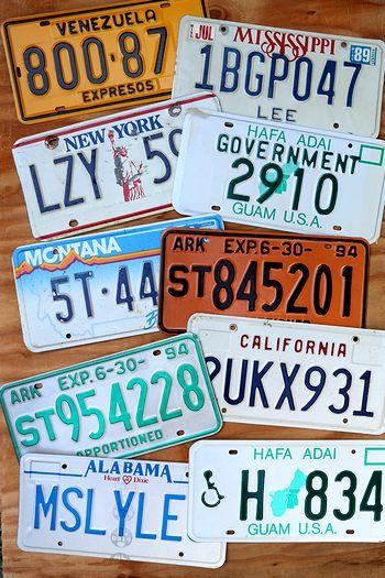 ナンバープレート USEDナンバープレート 通販 車ナンバー  アメ車看板 アメリカ看板通販 サンブリッヂ