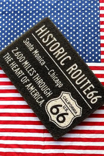 ルート66マット ルート玄関マット ROUTE66マット ルート66マット サンブリッヂ アメリカン雑貨 通販