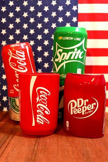 シリコンスリーブ 缶カバー アメリカ雑貨屋   サンブリッヂ アメリカン雑貨通販 コーラ ドクターペッパー スプライト