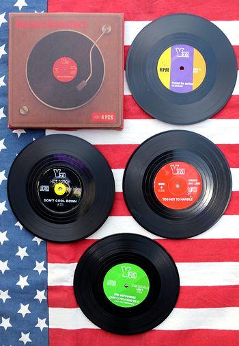 レコードコースター おもしろコースター DJコースター  アメリカ雑貨通販 サンブリッヂ 通販商品