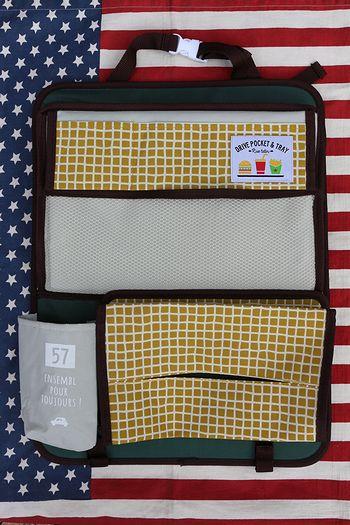 ドライブポケット&トレー おでかけポケット DECOLE 車ポケット トレー アメリカ雑貨屋 サンブリッヂ