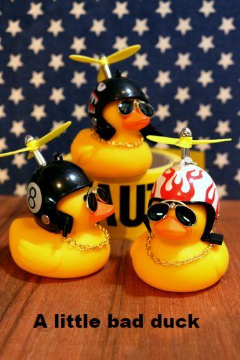 お風呂アヒル アヒル おもちゃ バイカー アメリカ雑貨 アメリカ雑貨通販 サンブリッヂ 通販商品