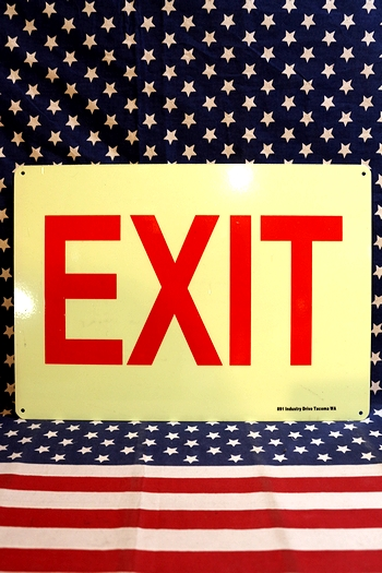 EXIT看板 蓄光看板 出口看板 アメリカ雑貨屋 サンブリッヂ アメリカ看板通販