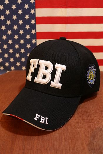 FBIキャップ FBI帽子 FBI ベースボールキャップ 輸入 アメリカ 立体刺繍 帽子 サンブリッヂ