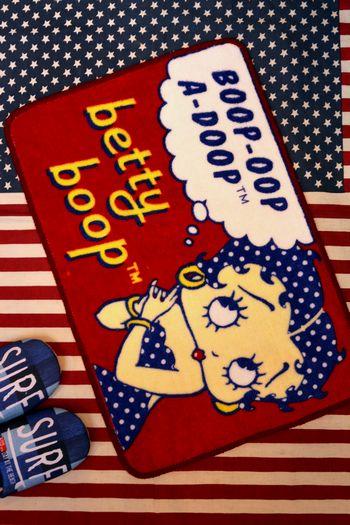 ベティ マット ベティブープ フロアマット 玄関マット バスマット アメキャラ アメリカ雑貨屋 サンブリッヂ 通販