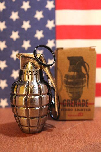 グレネードターボライター銀古美 手榴弾ライター ミリタリーライター ミリタリー雑貨通販 アメリカ雑貨屋 サンブリッヂ