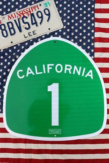 ハイウェイ看板 カリフォルニア看板 カリフォルニア1 アメリカ雑貨通販 サンブリッヂ 道路標識