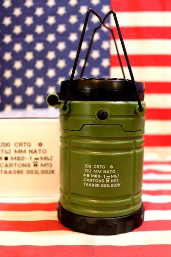 ミリタリーライトファン LEDランタン キャンプランタン ミリタリー雑貨通販 メリカ雑貨 通販 アメリカン雑貨 サンブリッヂ