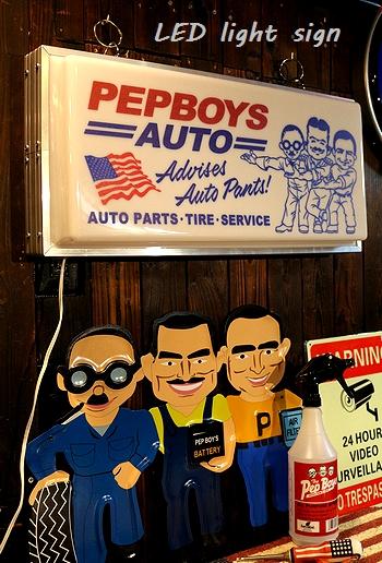 ペップボーイLEDライトサイン ペップボーイLEDサイン ペップボーイLEDライト アメリカ雑貨屋 サンブリッヂ アメリカン雑貨 通販