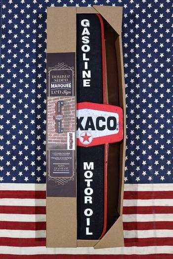 テキサコLEDライトサイン テキサコLEDライト看板 ネオン管 TEXACO電飾看板 アメリカ雑貨屋 サンブリッヂ 通販