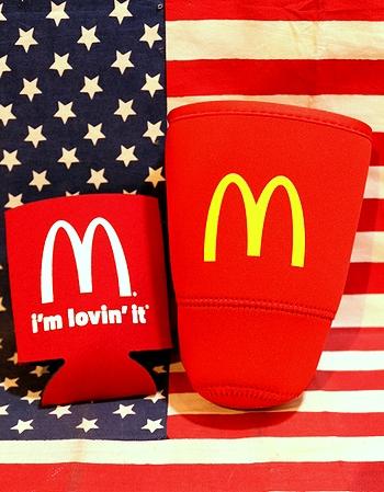 マクドナルド缶クーラー マック缶クーラー ドリンクホルダー アメリカ雑貨屋 サンブリッヂ アメリカ雑貨通販