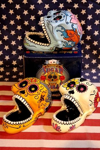 メキシカンスカルトレイ メキシカンスカル シュガースカルトレイ メキシコ骸骨 アメリカ雑貨屋 サンブリッヂ 通販