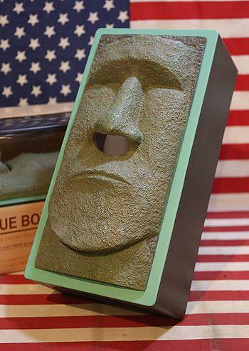 モアイ像ティッシュケース おもしろティッシュボックスケース アメリカンティッシュボックスカバー アメリカ雑貨屋 サンブリッヂ