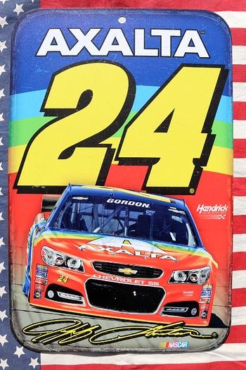 ナスカー看板 NASCAR看板 AXALTA24 ガレージ看板通販 アメリカ雑貨屋 サンブリッヂ通販