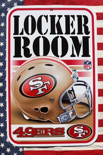 アメフト看板 サンフランシスコ49ERS看板 NFL アメフト看板通販 アメリカ雑貨屋 サンブリッヂ通販
