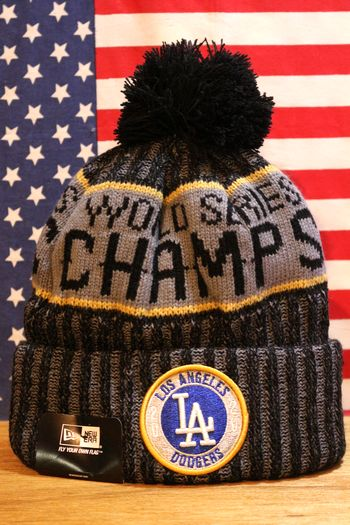 ロサンゼルスドジャース ニット帽 帽子 ニューエラ ニット アメリカ アメリカ雑貨 通販 サンブリッヂ