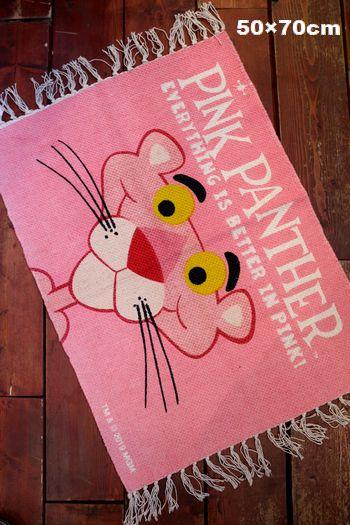 ピンクパンサー マット フリンジマット キッチンマット 玄関マット アメリカ雑貨 アメリカ雑貨屋 通販 サンブリッヂ 通販商品