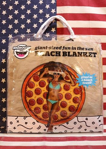 ビーチブランケット ピザ柄ビーチタオル レジャーグッズ アメリカ雑貨屋 サンブリッヂ