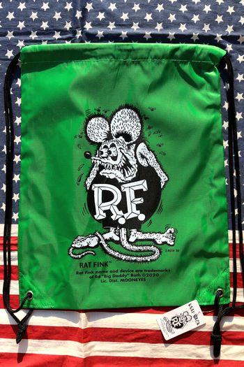 ラットフィンクナップサック ラットフィンクリュック 巾着 ムーンアイズ アメリカ雑貨屋 サンブリッヂ ムーンアイズ通販