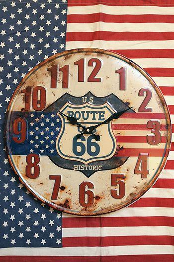 ルート66アンティークエンボスクロック ルート66時計 アメリカン壁掛時計通販 アメリカ雑貨屋 サンブリッヂ