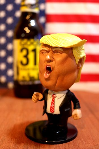 トランプ大統領 ボビングドール 首振り人形 大アメリカ大統領グッズ ドナルドトランプ