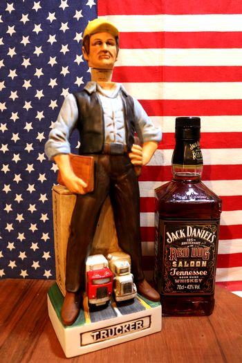 トラッカーズ トラック野郎  ディキャンタ ウィスキーボトル ワインボトル アメリカ雑貨屋 サンブリッヂ アメリカン雑貨 通販