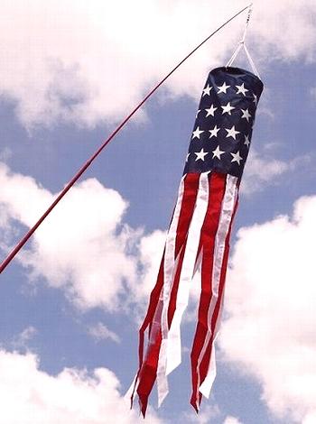 アメリカウィンドソックフラッグ キャンプ旗 アウトドア旗 星条旗 丸アメリカ国旗 アメリカ雑貨屋 サンブリッヂ
