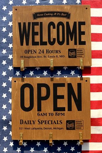 フックボード アメリカンフックボード ウッデンフックボード OPENフック ガレージフック アメリカ雑貨通販 サンブリッヂ SUNBRIDGE