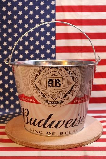 バドワイザー バケツ ブリキバケツ ティンバケツ Budweiser アメリカ雑貨屋サンブリッヂ SUNBRIDGE 岩手雑貨屋