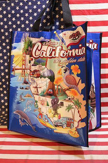 カリフォルニア エコバッグ California アメリカ メリカ雑貨屋 サンブリッヂ通販