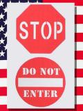 ステンシルアート アメリカ標識
