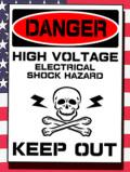 ステンシルアート 高圧電力 立ち入り禁止