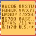 アメリカ雑貨屋サンブリッヂ ステンシル文字2インチ